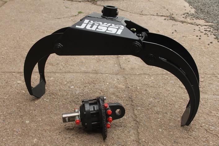 Drapák na kulatinu a hydraulický rotátor Baltrotors GR10