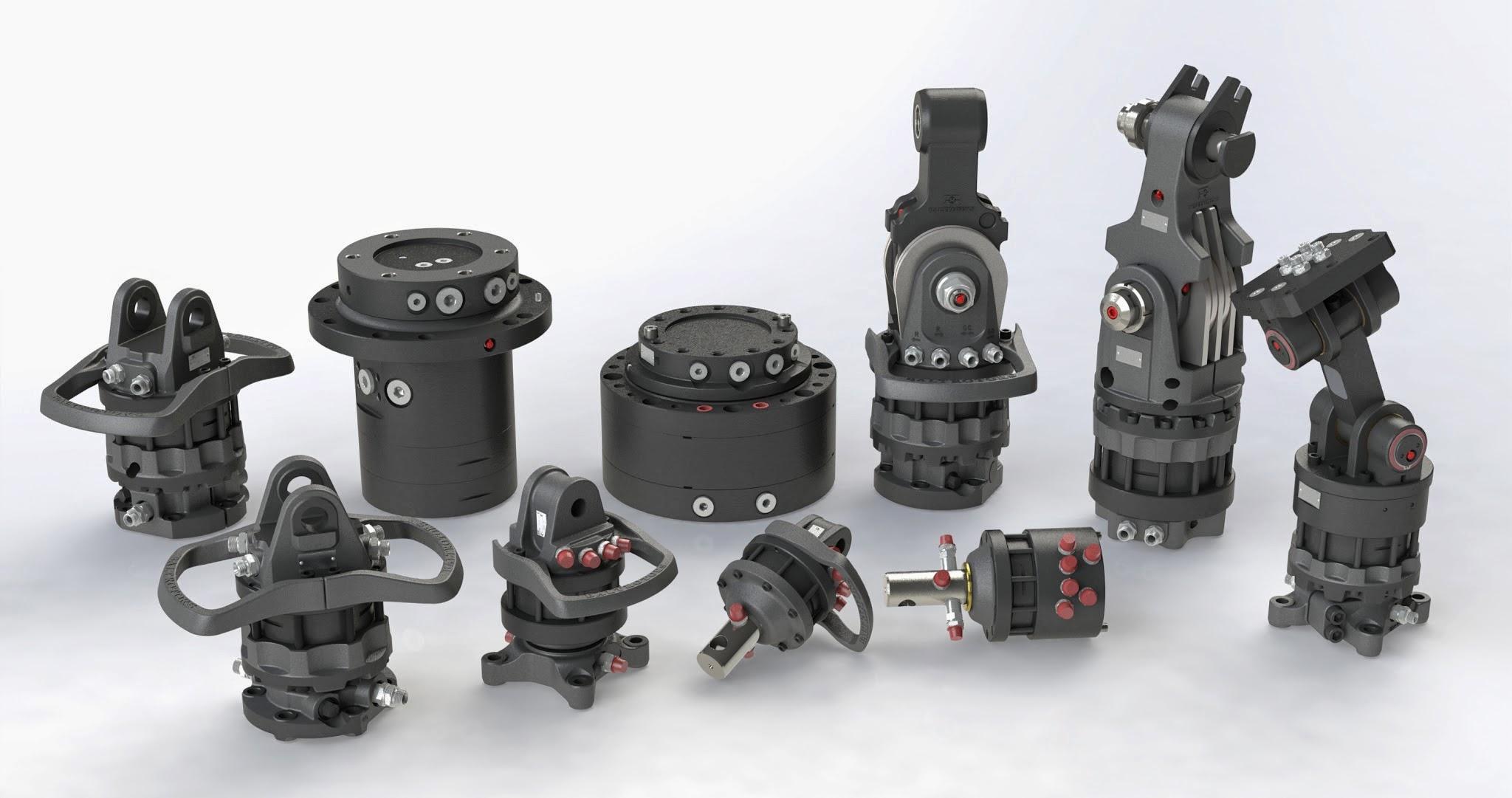 Nejširší sortiment hydraulických rotátorů na trhu